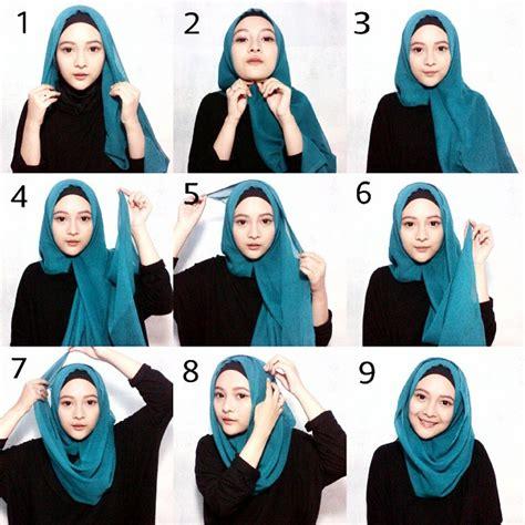 tutorial hijab paris segi empat  paduan busana muslim