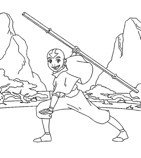 avatar the last airbender coloring pages minister coloring