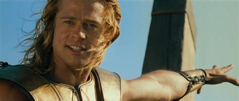 brad pitt achilles swords and sandals eye candy brad pitt in troy