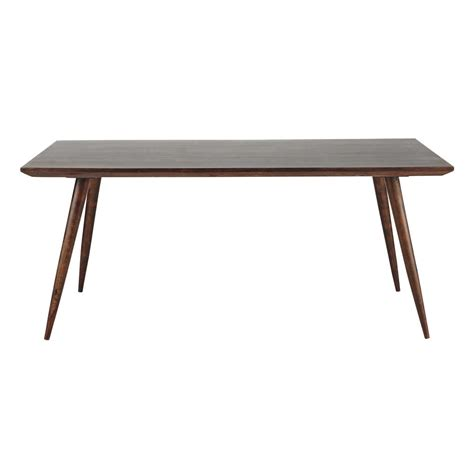 brown wood dining table solid sheesham wood dining table in brown w 175cm soho