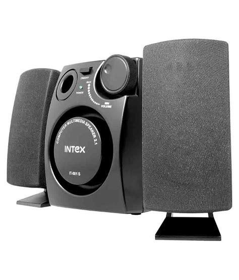 intex    desktop speakers black