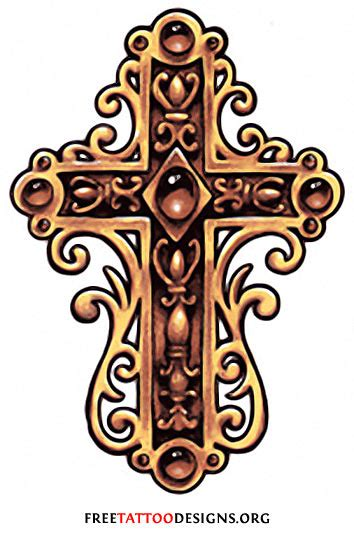 ornate cross tattoo cross gallery