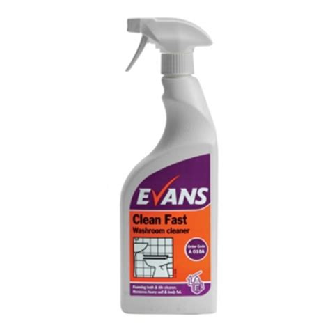 heavy duty bathroom cleaner evans clean fast heavy duty washroom cleaner 750ml