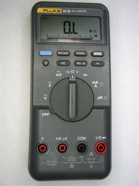 Multimeter Fluke 83 fluke 83 iii rotary switch mr modemhead