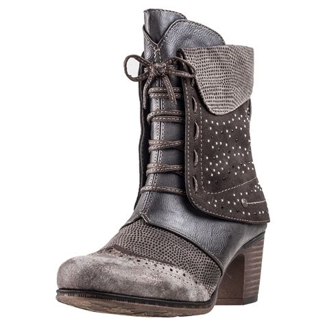 mustang sequin ankle boot womens boots in grey