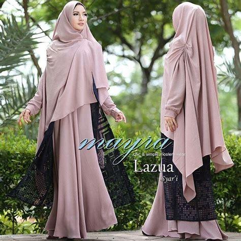 Mayra Syari 3w Baju Muslim Syari lazua syar i by mayra baju gamis syari katun organdi