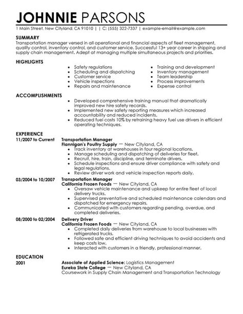 Store Manager Resume by Transportation Store Manager Resume Exles Created By
