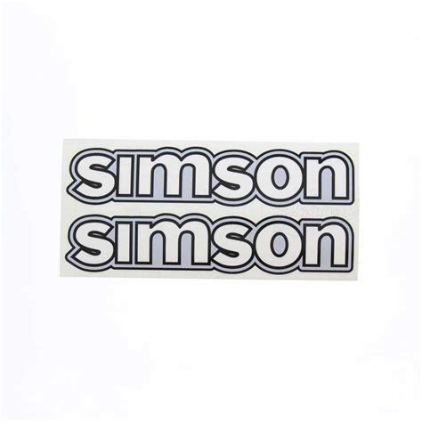 Aufkleber F R Moped by Simson S50 Set Aufkleber Simson F 252 R Tank Wei 223