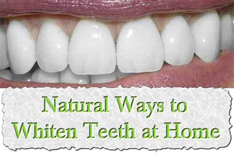 ways to whiten teeth at home