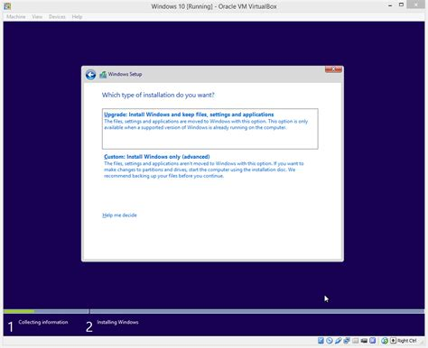 how to install windows 10 insider preview on oracle virtualbox