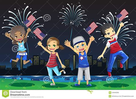 celebrating the 4th of july with children book celebrating fourth of july stock photo image 24940260