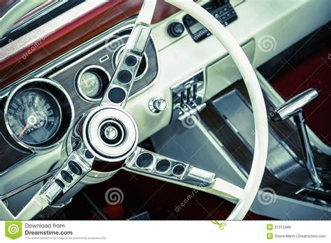 muscle car upholstery muscle car interior royalty free stock image image 31312486