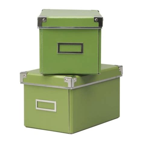 2 x ikea kassett billy bookcase cd storage box green ebay