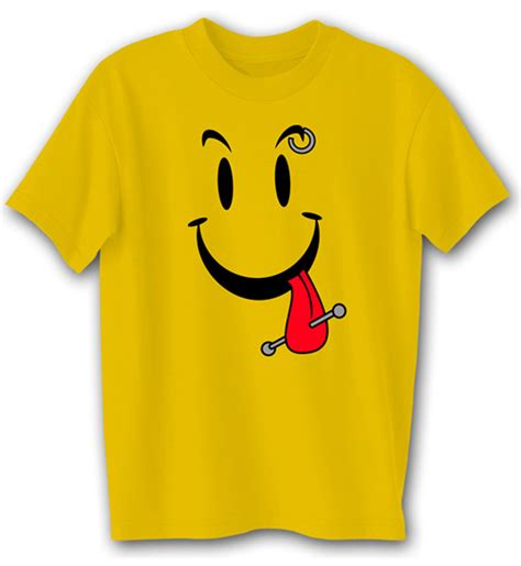 T Shirt Smile Y shirt cool smiley gold shirt t