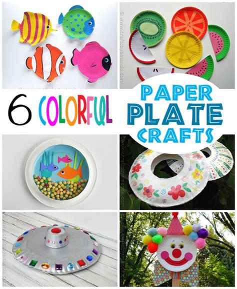 Craft Ideas Paper Plates - for colorful crafts and crafts for on