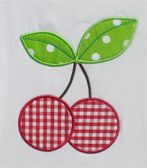 embroidery applique cherries embroidery design machine applique