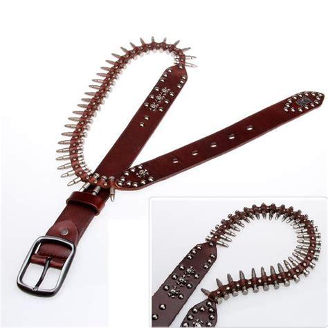 Sabuk Rell Kulit Asli Genuine Leather Belt logam peluru keling 100 lapisan pertama kulit sapi asli kulit laki laki sabuk kepribadian