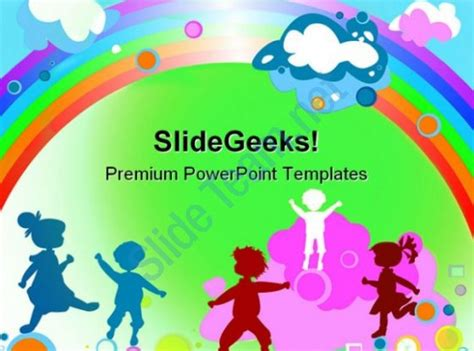 ppt templates for ece free download kids and rainbow entertainment powerpoint templates and