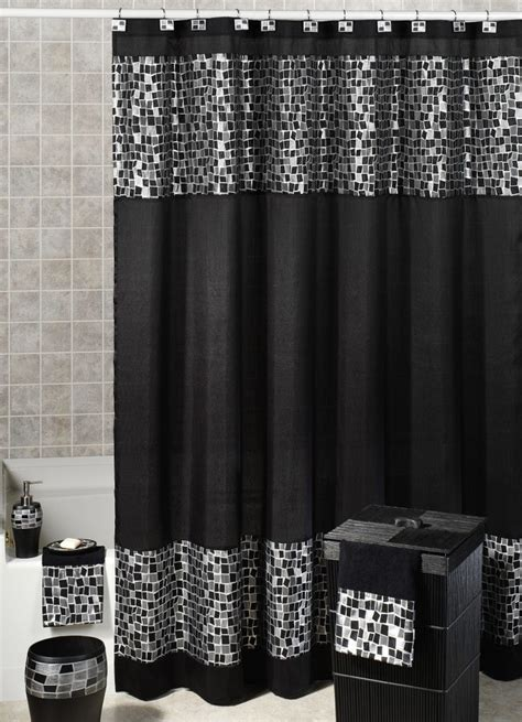 Designer Shower Curtains Decorating Gorgeous Black Shower Curtain Design Ideas For Simply Awesome Look Ideas 4 Homes