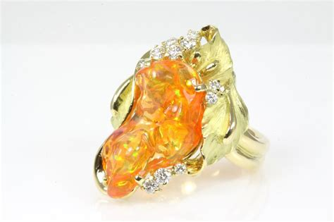 mexican fire opal mexican fire opal and ring 6 55ct first state