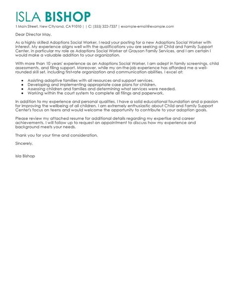 excellent social worker cover letter sample no experience 21 in