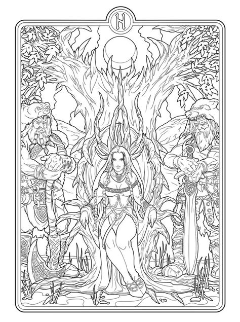 shopping for a coloring book for adults books helheim goddess by deviantashtareth deviantart