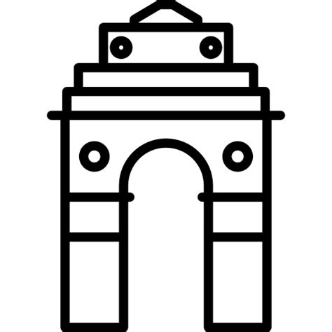 coloring pages of india gate india gate free monuments icons