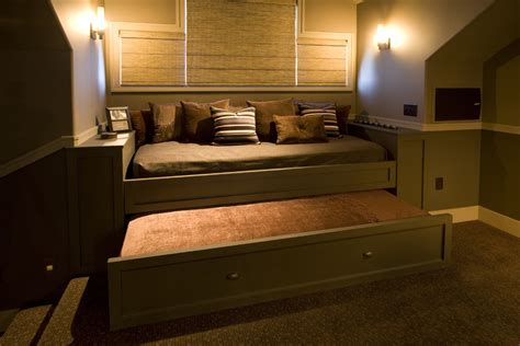 adult trundle bed good looking day bed with trundle in home theater traditional with trundle bed next to