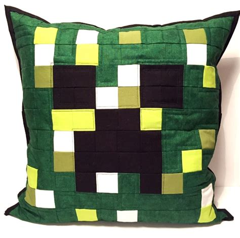 Minecraft Pillow Pattern by Minecraft Quilted Cushion The Crafty Nomad Fleet Hshire