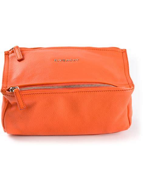 givenchy pandora mini bag in orange yellow orange lyst