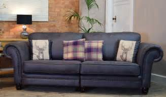 Grey Check Sofa by Set Downton 4 Seater Split Sofa Accent Chair Suite