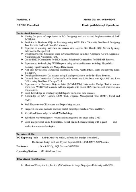 sap fico resume sle pdf sap bi sle resume for 2 years experience 28 images sap