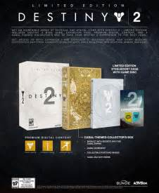 What S Included destiny 2 collector s edition what s included