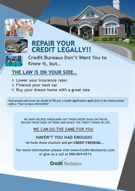 Credit Repair Flyers Credit Repair Secrets Exposed Here Credit Repair Pinterest Credit Repair Flyer Template