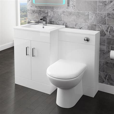 bathroom cisterns back to wall toilet with soft close seat and concealed