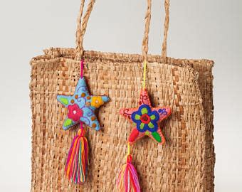 Wholesale Mexican Handcrafts - handmade colorful pom pom tassel charms wedding favors