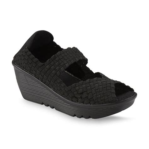 Wedges Slip On Va everlast 174 s wendy black sport wedge sandal shoes