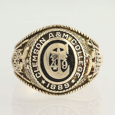Cost Of Class Ring A M Mba Program by Clemson A College Ring Class 1949 Vintage Clemson