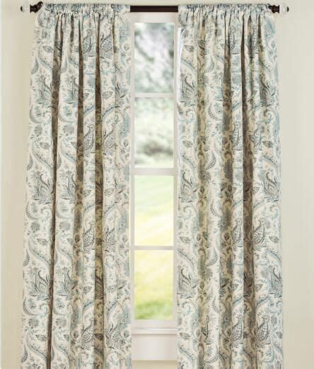 vermont country curtains artisan paisley lined rod pocket curtains 139 95 199