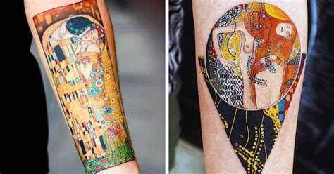 klimt tattoo 10 gustav klimt tattoos to show your artistic side