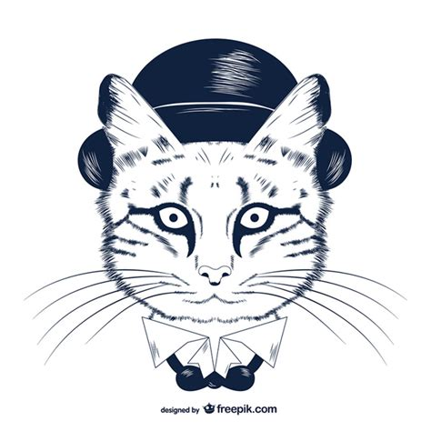 imagenes hipster para dibujar vector gato hipster descargar vectores gratis