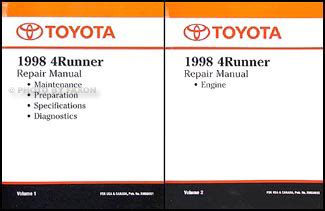 car maintenance manuals 1998 toyota 4runner on board diagnostic system 1998 toyota air conditioner installation manual original corolla t100 tacoma 4runner