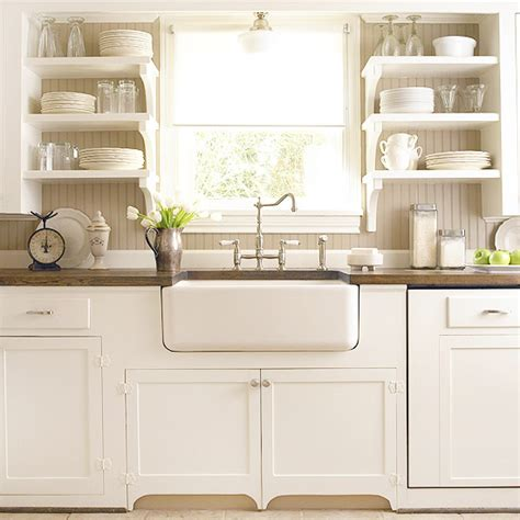 farmhouse kitchen backsplash beadboard backsplash cottage kitchen bhg