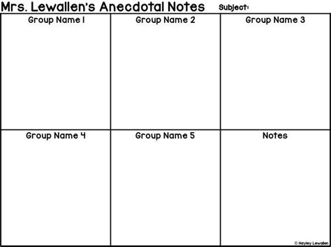 anecdotal notes template editable anecdotal note templates anecdotal notes notes
