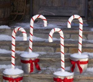 outdoor candycane ribbon 100 best outdoor diy decorations prudent pincher