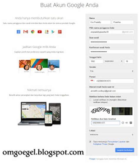 contoh membuat akun google play cara membuat akun google mail atau gmail om goegel