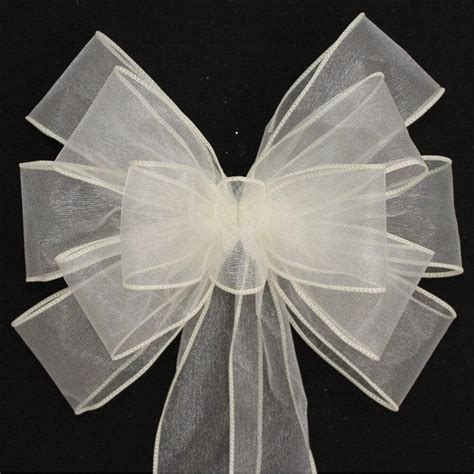 Wedding Aisle Bows by Ivory Sheer Wedding Pew Bows Church Aisle Decorations