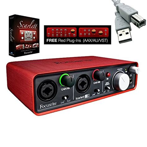 Focusrite 2i2 2nd Usb 2 0 Audio Interface 2 In 2 Out focusrite 2i2 2nd 2 usb 2 0 audio interface bundle with mxl 550 551r condenser