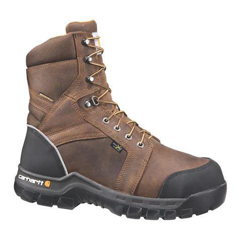 carhartt rugged flex 6 work boots leather s carhartt rugged flex s 11 5m brown leather waterproof