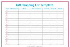 birthday gift list template list templates dotxes